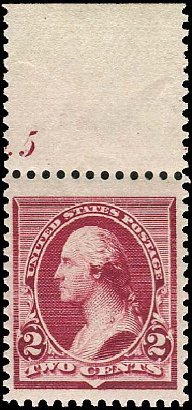 US Stamps Value Scott Catalog #219D: 2c 1890 Washington. Regency-Superior, Aug 2015, Sale 112, Lot 379