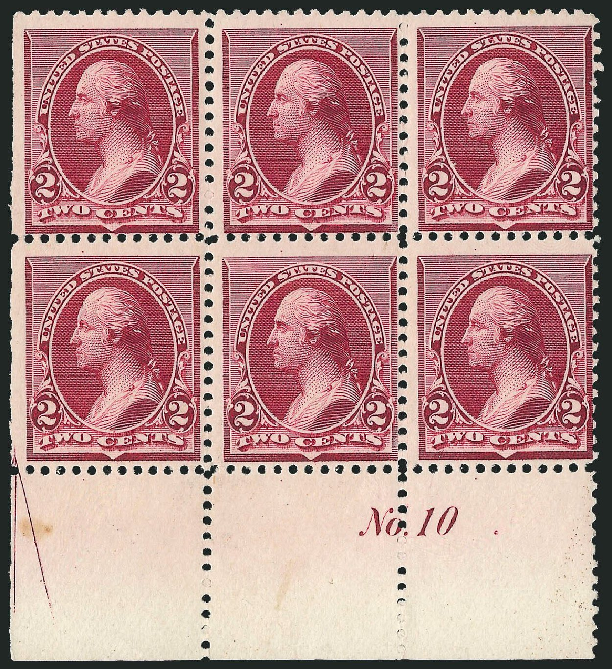 US Stamp Value Scott Catalog #219D: 2c 1890 Washington. Robert Siegel Auction Galleries, Nov 2014, Sale 1084, Lot 3499