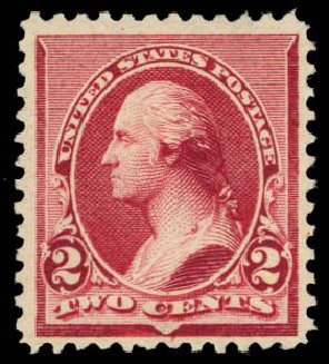 US Stamps Price Scott Catalogue #219D: 1890 2c Washington. Daniel Kelleher Auctions, Dec 2014, Sale 661, Lot 190