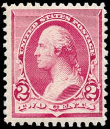 Cost of US Stamps Scott Cat. #219D: 1890 2c Washington. Schuyler J. Rumsey Philatelic Auctions, Apr 2015, Sale 60, Lot 2200