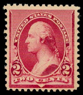 US Stamp Value Scott Catalog # 219D - 2c 1890 Washington. Daniel Kelleher Auctions, Sep 2013, Sale 639, Lot 3301