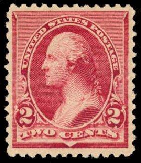 US Stamp Values Scott Cat. # 219D - 2c 1890 Washington. Daniel Kelleher Auctions, May 2014, Sale 653, Lot 2151