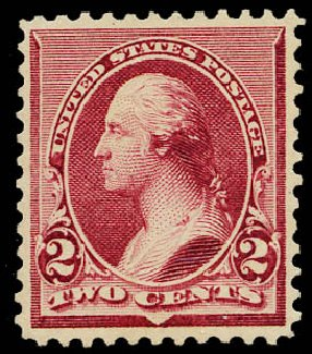 Price of US Stamps Scott Catalogue 219D - 1890 2c Washington. Daniel Kelleher Auctions, May 2015, Sale 669, Lot 2701