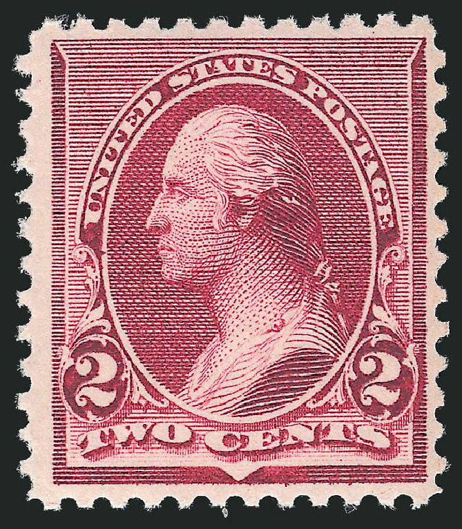 Value of US Stamp Scott Cat. # 219D - 2c 1890 Washington. Robert Siegel Auction Galleries, Oct 2012, Sale 1033, Lot 4124