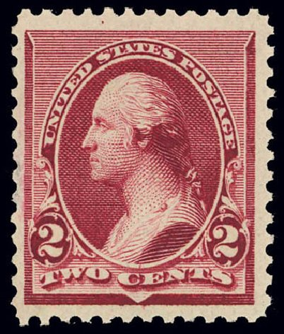 Prices of US Stamp Scott Cat. #219D: 1890 2c Washington. Daniel Kelleher Auctions, Feb 2013, Sale 634, Lot 155