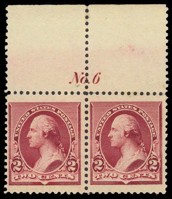 Value of US Stamps Scott Cat. #219D: 2c 1890 Washington. Daniel Kelleher Auctions, Sep 2013, Sale 639, Lot 3302