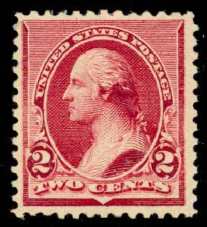 Value of US Stamp Scott Catalog 219D - 1890 2c Washington. Daniel Kelleher Auctions, Apr 2013, Sale 636, Lot 173
