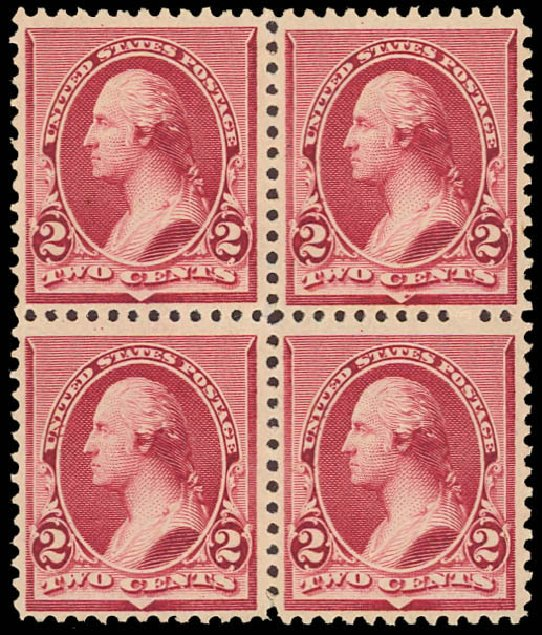 Values of US Stamps Scott Catalogue #219D - 2c 1890 Washington. Daniel Kelleher Auctions, Aug 2012, Sale 631, Lot 886