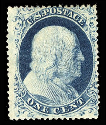 Prices of US Stamp Scott #22: 1c 1857 Franklin. Cherrystone Auctions, Jul 2015, Sale 201507, Lot 18