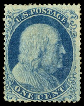 Price of US Stamps Scott #22: 1857 1c Franklin. Daniel Kelleher Auctions, Aug 2015, Sale 672, Lot 2178