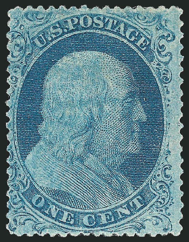 Value of US Stamps Scott Catalog # 22: 1c 1857 Franklin. Robert Siegel Auction Galleries, Apr 2015, Sale 1096, Lot 49