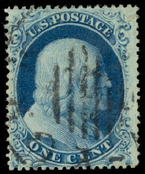 US Stamp Price Scott Cat. # 22 - 1c 1857 Franklin. Daniel Kelleher Auctions, Aug 2015, Sale 672, Lot 2180