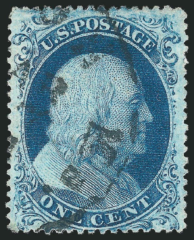 Values of US Stamps Scott Cat. #22: 1c 1857 Franklin. Robert Siegel Auction Galleries, Apr 2015, Sale 1096, Lot 50