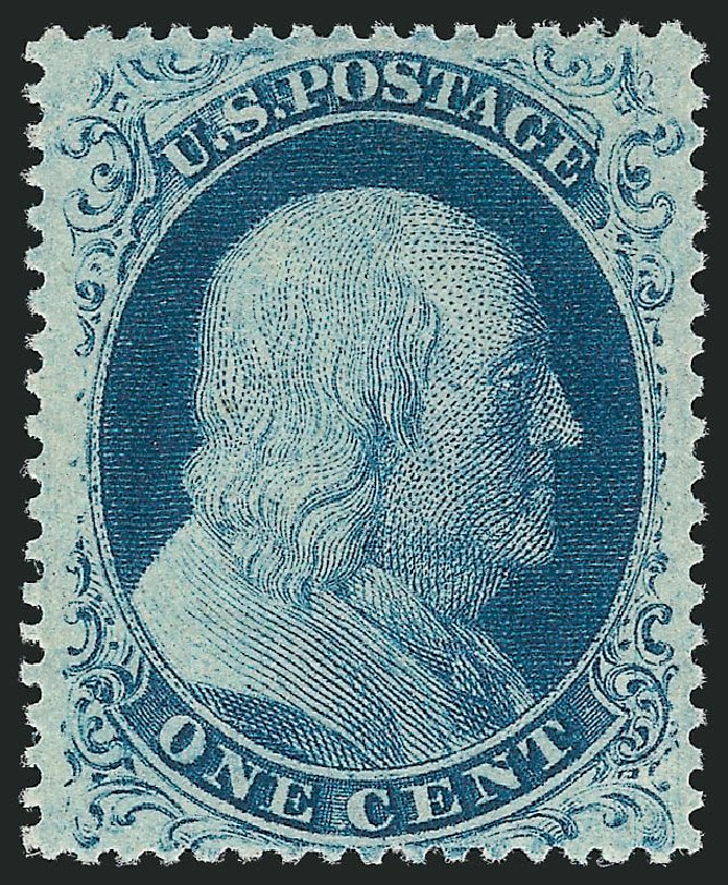 US Stamp Values Scott Cat. 22: 1857 1c Franklin. Robert Siegel Auction Galleries, Jun 2015, Sale 1106, Lot 3041