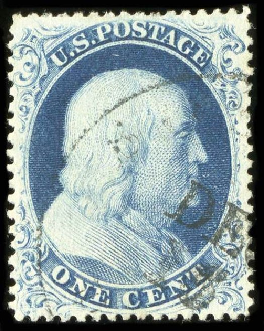 US Stamps Price Scott Catalog #22 - 1857 1c Franklin. Spink Shreves Galleries, Jul 2015, Sale 151, Lot 42