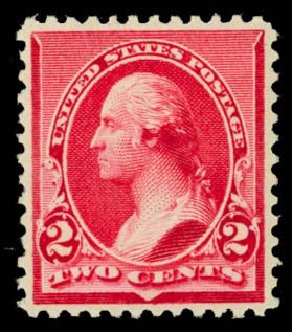 Cost of US Stamp Scott # 220: 2c 1890 Washington. Daniel Kelleher Auctions, May 2014, Sale 652, Lot 327