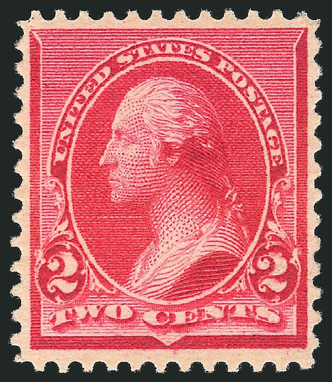 Prices of US Stamps Scott Catalogue #220 - 2c 1890 Washington. Robert Siegel Auction Galleries, Jul 2013, Sale 1050, Lot 327