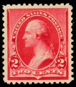 Prices of US Stamps Scott Cat. 220: 1890 2c Washington. Daniel Kelleher Auctions, Jan 2015, Sale 663, Lot 1439