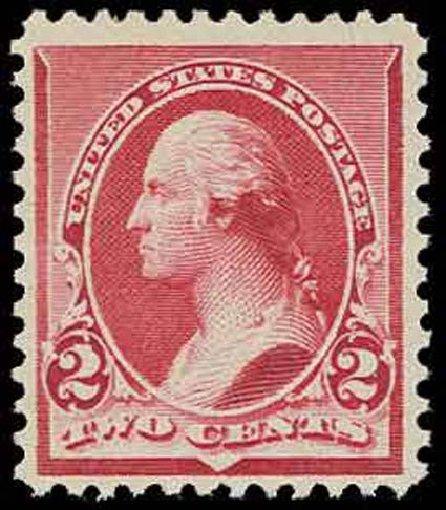 US Stamps Values Scott Cat. # 220 - 2c 1890 Washington. H.R. Harmer, Nov 2013, Sale 3004, Lot 1140
