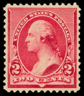 US Stamps Prices Scott Catalogue # 220: 1890 2c Washington. Daniel Kelleher Auctions, Dec 2014, Sale 661, Lot 191