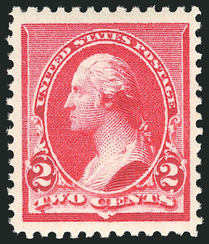 US Stamps Values Scott Catalogue #220: 1890 2c Washington. Robert Siegel Auction Galleries, Apr 2014, Sale 1068, Lot 171