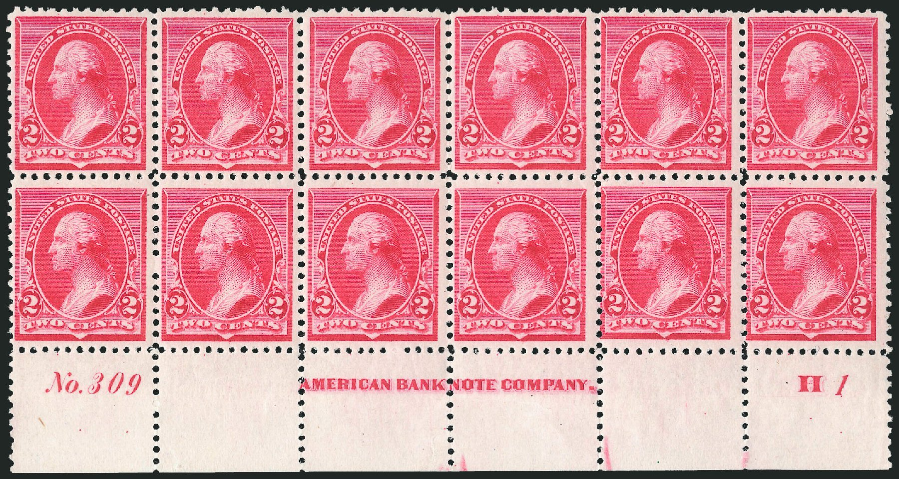 US Stamps Price Scott # 220 - 1890 2c Washington. Robert Siegel Auction Galleries, Nov 2014, Sale 1084, Lot 3501