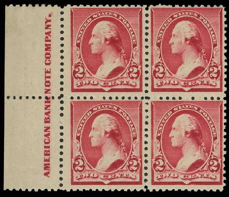 Cost of US Stamps Scott Catalogue #220: 1890 2c Washington. H.R. Harmer, May 2014, Sale 3005, Lot 1154