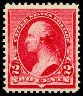 Values of US Stamps Scott Catalogue #220 - 2c 1890 Washington. Daniel Kelleher Auctions, May 2014, Sale 653, Lot 2152