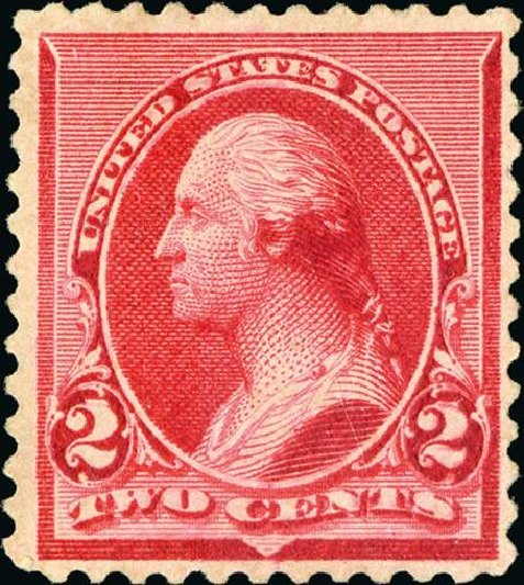 Costs of US Stamps Scott Cat. 220: 1890 2c Washington. Spink Shreves Galleries, Jan 2015, Sale 150, Lot 113