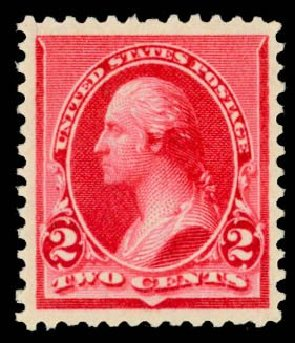 Values of US Stamps Scott Catalogue # 220: 1890 2c Washington. Daniel Kelleher Auctions, May 2014, Sale 652, Lot 326
