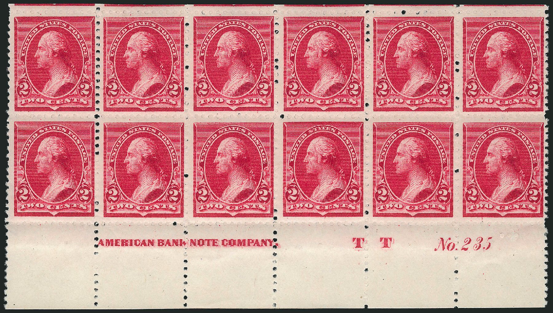 US Stamps Value Scott Catalog # 220 - 2c 1890 Washington. Robert Siegel Auction Galleries, Apr 2015, Sale 1096, Lot 386
