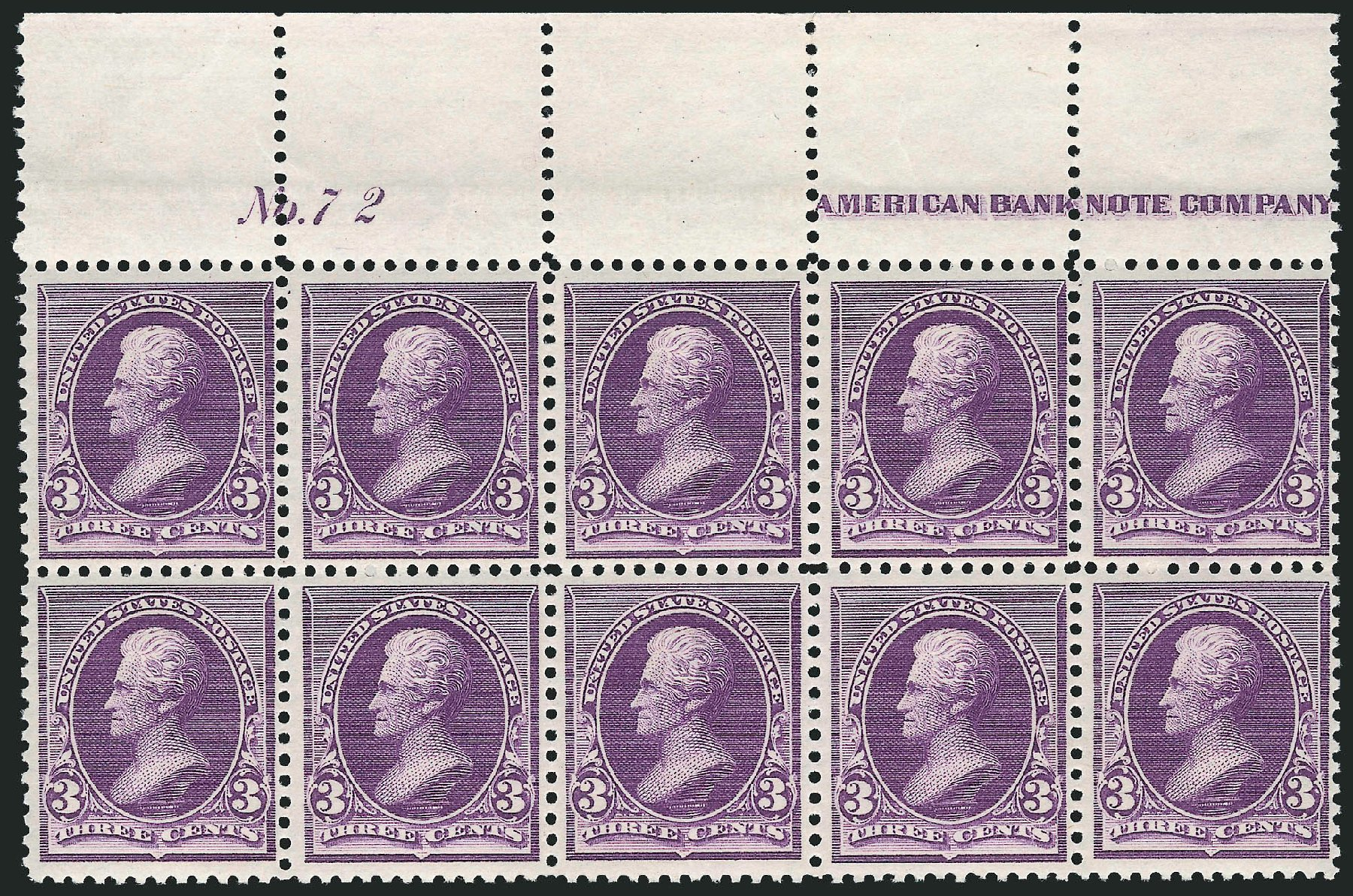 Value of US Stamps Scott Catalog #221 - 1890 3c Jackson. Robert Siegel Auction Galleries, Apr 2015, Sale 1096, Lot 387