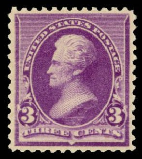 US Stamp Prices Scott #221: 3c 1890 Jackson. Daniel Kelleher Auctions, May 2014, Sale 652, Lot 328
