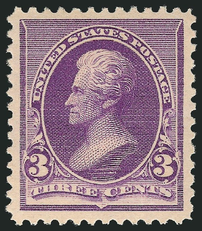 Values of US Stamps Scott Catalog 221: 3c 1890 Jackson. Robert Siegel Auction Galleries, May 2013, Sale 1044, Lot 178