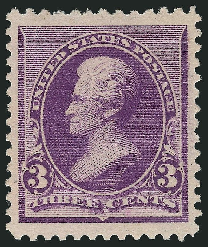 Value of US Stamp Scott # 221: 3c 1890 Jackson. Robert Siegel Auction Galleries, Nov 2013, Sale 1057, Lot 809