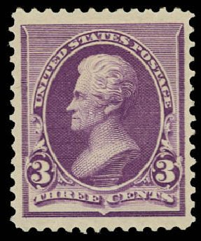 Price of US Stamp Scott Catalogue # 221 - 1890 3c Jackson. Daniel Kelleher Auctions, Jun 2012, Sale 630, Lot 1471