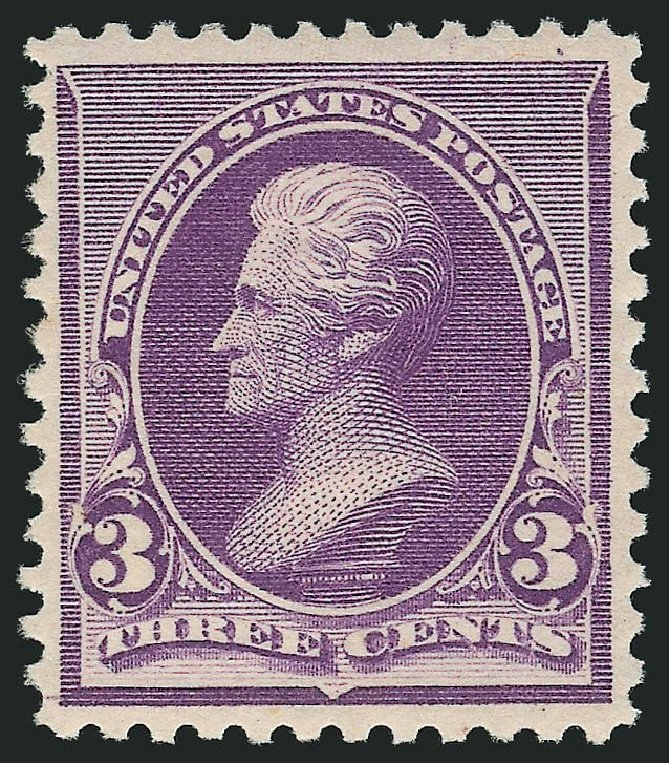 US Stamp Price Scott Catalogue #221 - 3c 1890 Jackson. Robert Siegel Auction Galleries, Dec 2014, Sale 1090, Lot 1374