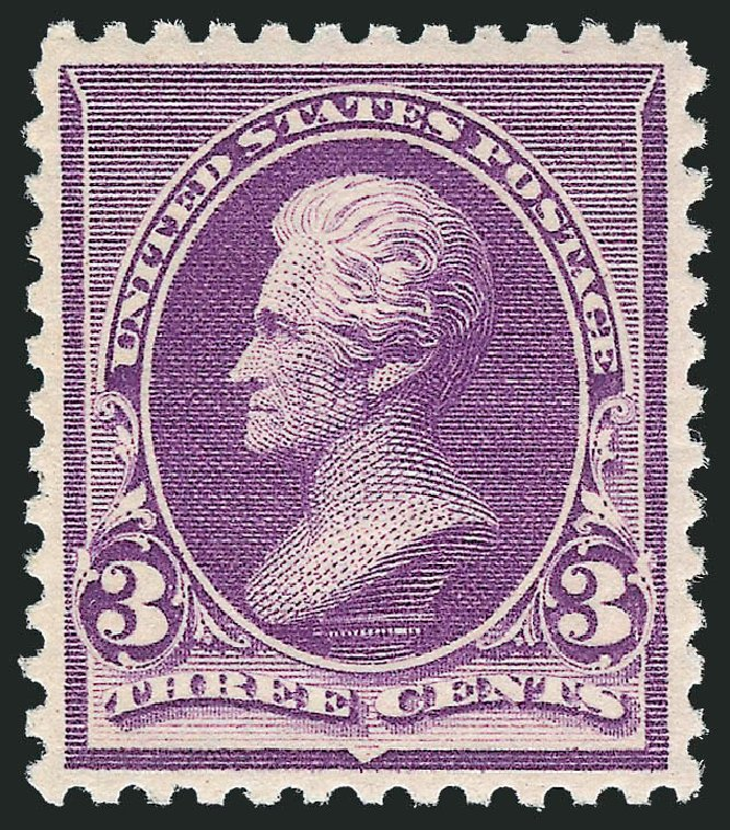 US Stamps Value Scott 221 - 3c 1890 Jackson. Robert Siegel Auction Galleries, Oct 2012, Sale 1033, Lot 4125