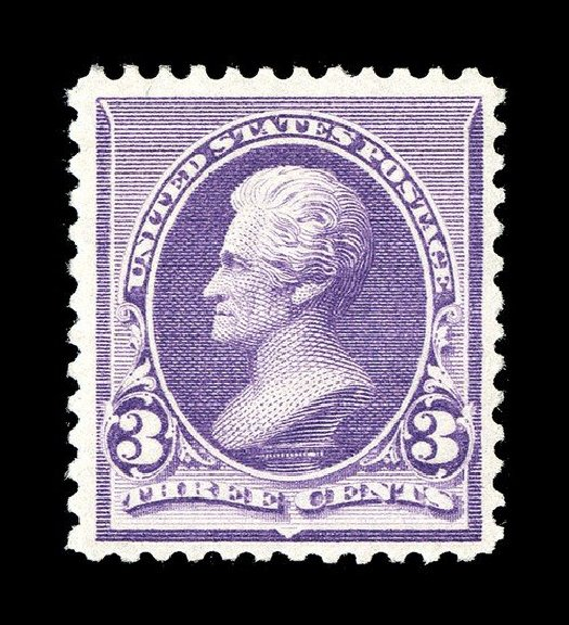 US Stamps Values Scott #221: 1890 3c Jackson. Spink Shreves Galleries, May 2014, Sale 148, Lot 195