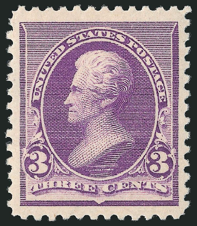Value of US Stamp Scott 221: 1890 3c Jackson. Robert Siegel Auction Galleries, Dec 2013, Sale 1062, Lot 412