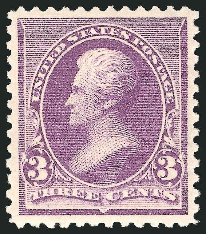 Costs of US Stamp Scott Catalog # 221 - 1890 3c Jackson. Robert Siegel Auction Galleries, Apr 2014, Sale 1068, Lot 172
