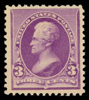 Cost of US Stamps Scott Catalog # 221 - 3c 1890 Jackson. Daniel Kelleher Auctions, Oct 2014, Sale 660, Lot 2196