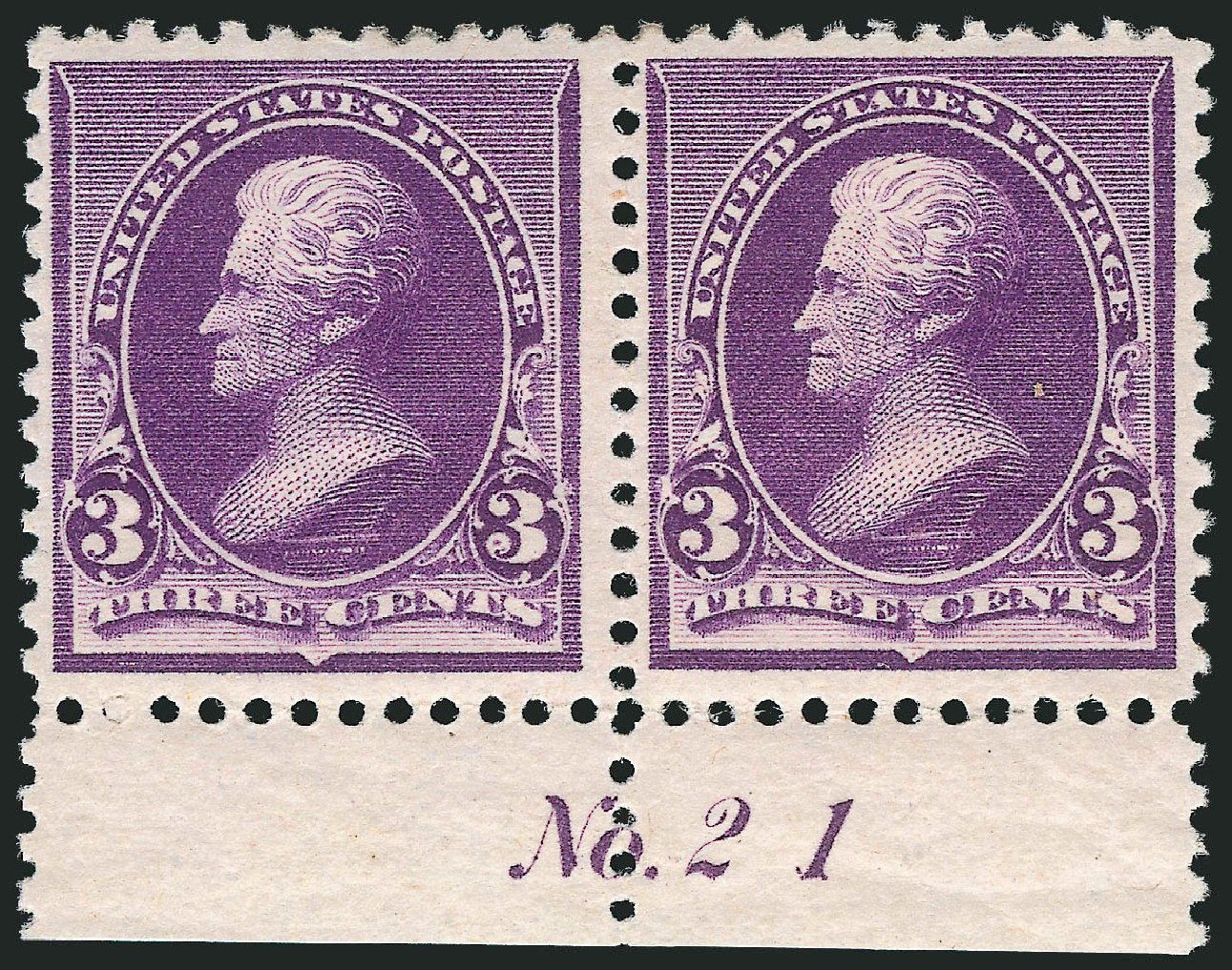 Values of US Stamps Scott Catalog # 221 - 1890 3c Jackson. Robert Siegel Auction Galleries, Oct 2011, Sale 1014, Lot 1456