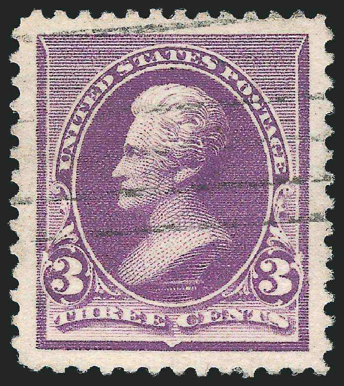 Costs of US Stamp Scott Catalog # 221 - 1890 3c Jackson. Robert Siegel Auction Galleries, Oct 2012, Sale 1032, Lot 3326