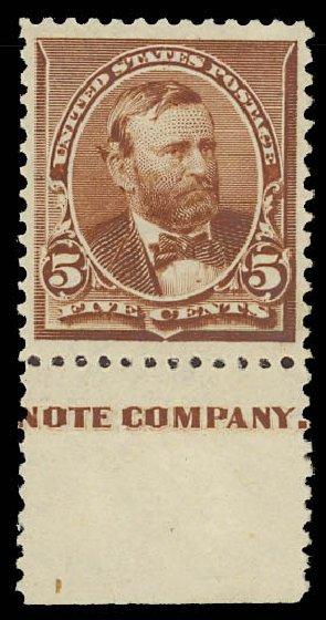 Value of US Stamps Scott Catalog 223 - 5c 1890 Grant. Daniel Kelleher Auctions, Jun 2012, Sale 630, Lot 1477