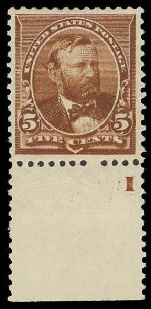 US Stamp Values Scott 223 - 5c 1890 Grant. Daniel Kelleher Auctions, Jun 2012, Sale 630, Lot 1478