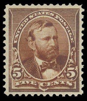 Price of US Stamp Scott Cat. 223 - 5c 1890 Grant. Daniel Kelleher Auctions, Oct 2012, Sale 632, Lot 1108