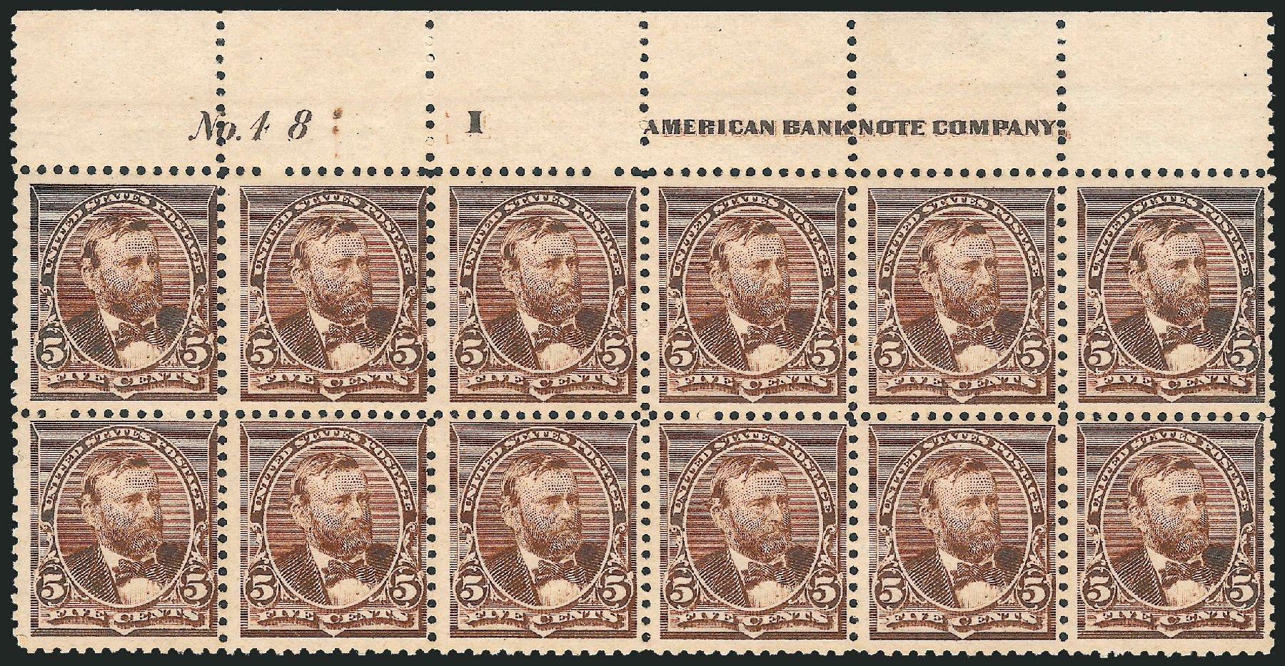 US Stamps Values Scott Catalogue 223 - 1890 5c Grant. Robert Siegel Auction Galleries, Dec 2012, Sale 1037, Lot 1778