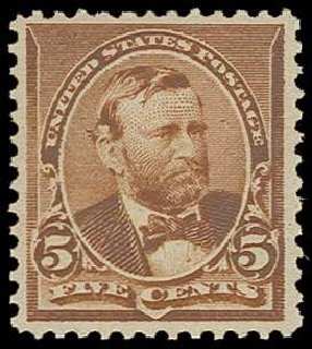 US Stamps Value Scott Cat. # 223: 1890 5c Grant. H.R. Harmer, Jun 2013, Sale 3003, Lot 1139