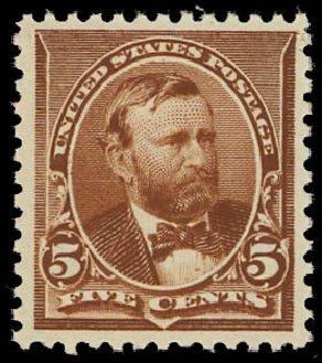 Values of US Stamps Scott Cat. #223: 1890 5c Grant. Daniel Kelleher Auctions, Oct 2012, Sale 632, Lot 1109